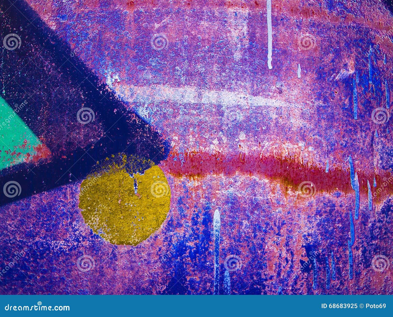 五颜六色的被弄脏的抽象背景或bokeh