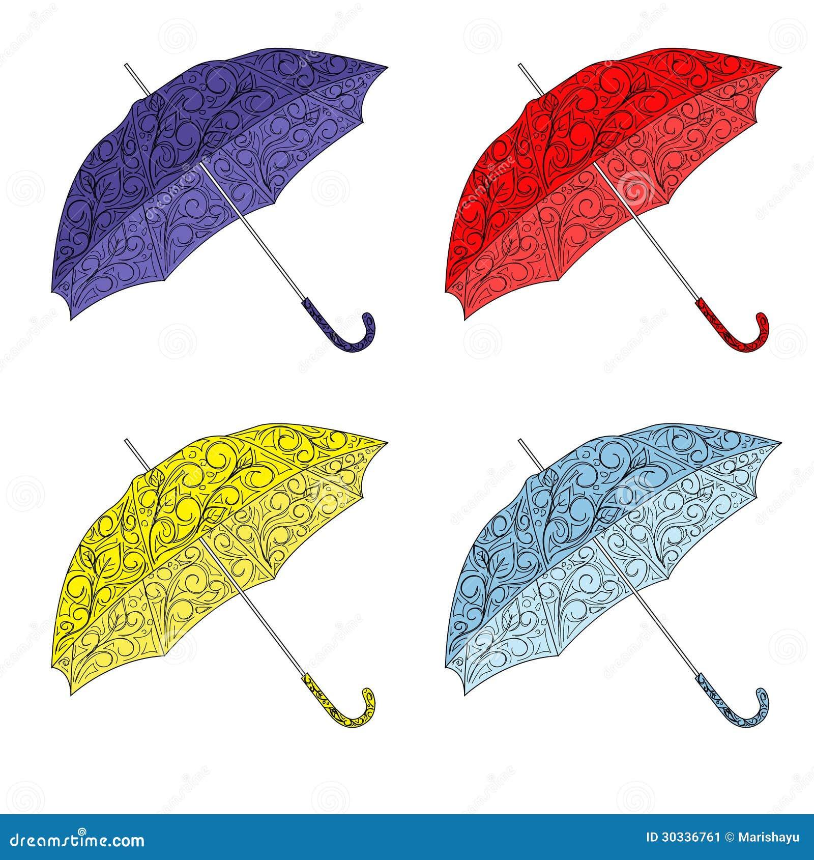 五颜六色的被绘的伞