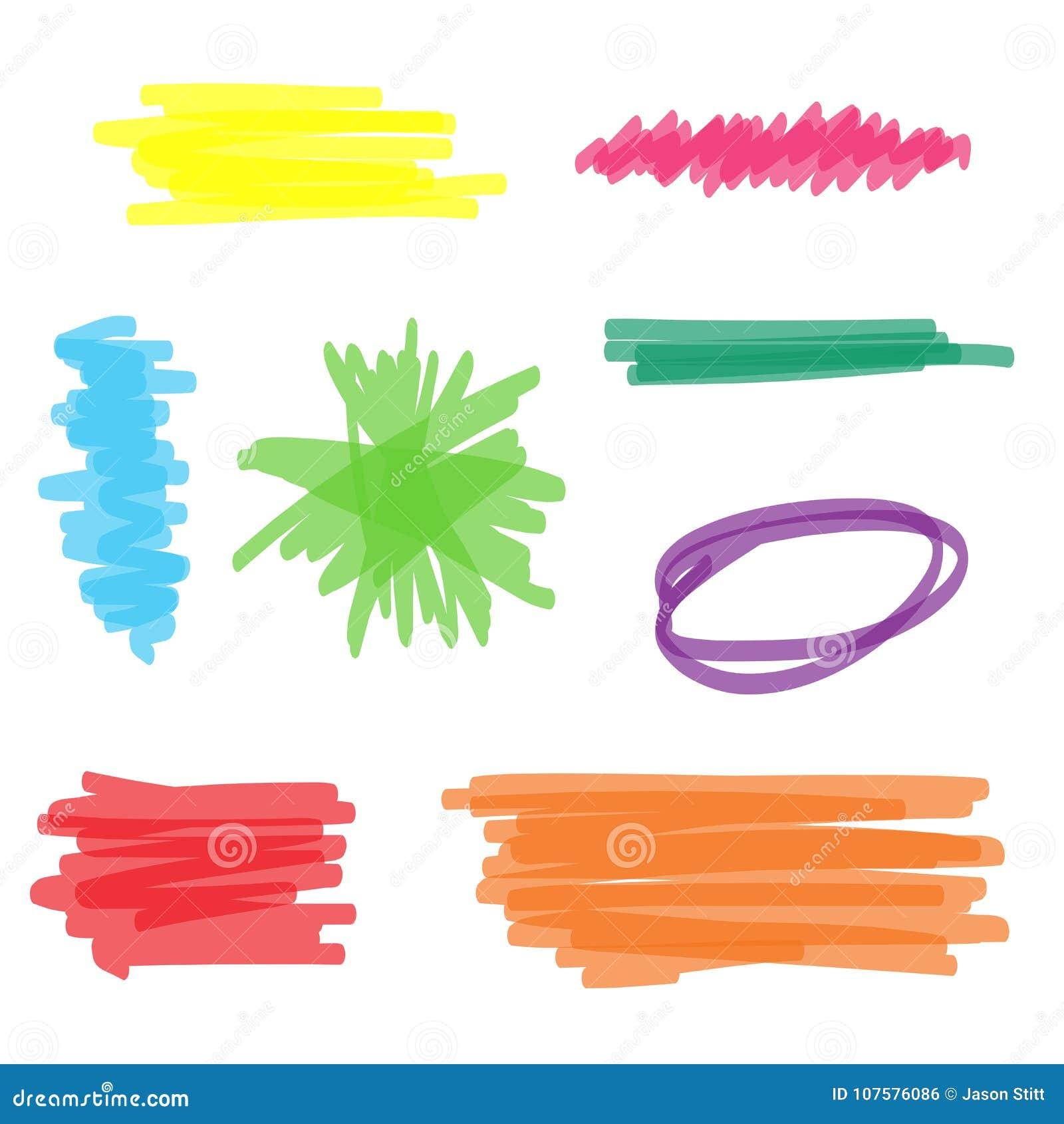 五颜六色的轮廓色_标志集合