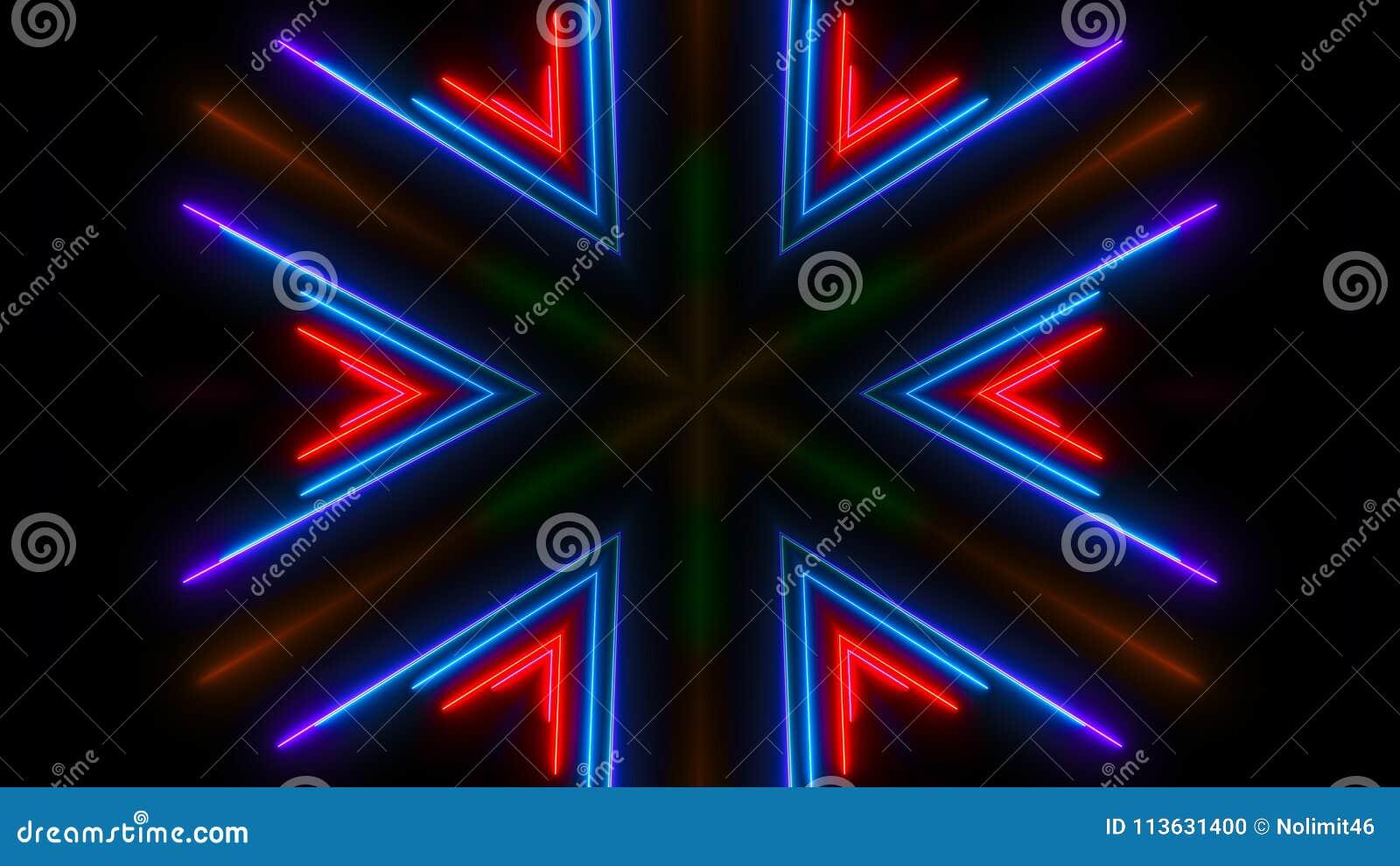 五颜六色的轻的氖 抽象数字式背景