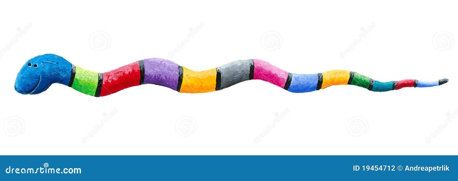 五颜六色的逗人喜爱的蛇