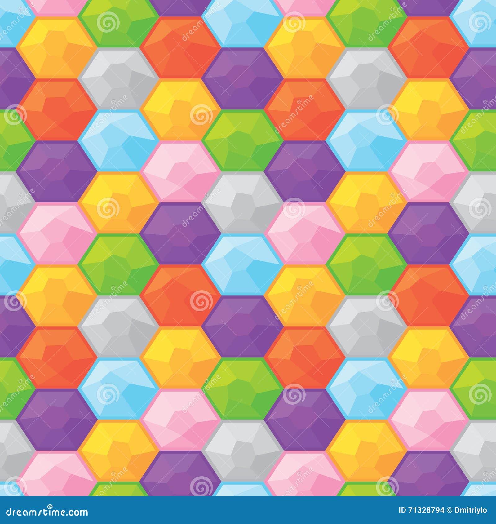 五颜六色的金刚石无缝的向量图形样式