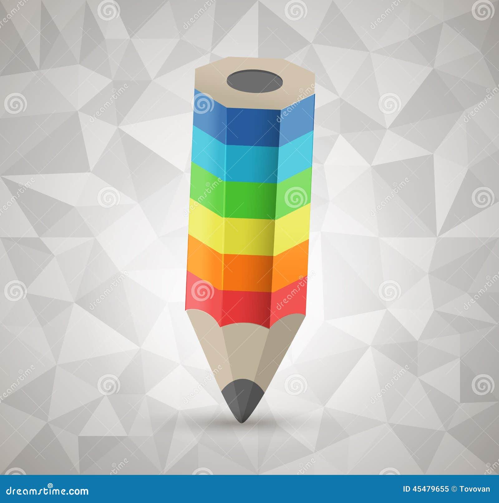 五颜六色的铅笔传染媒介象