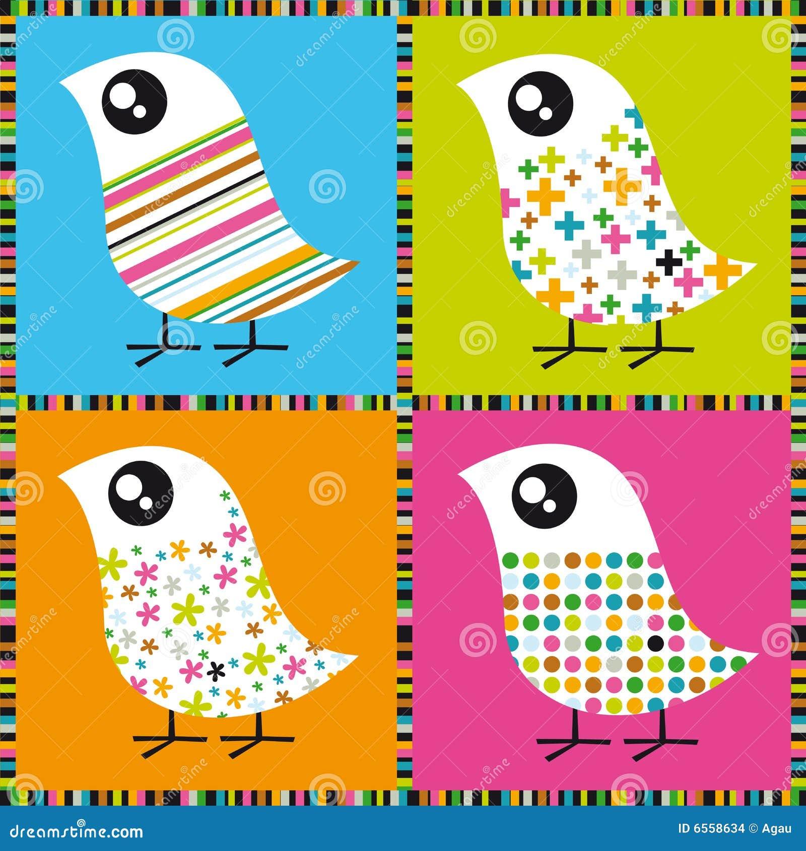 五颜六色的鸟