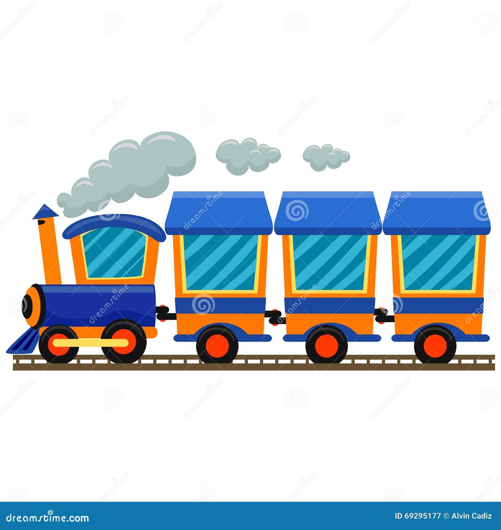 五颜六色的活动火车