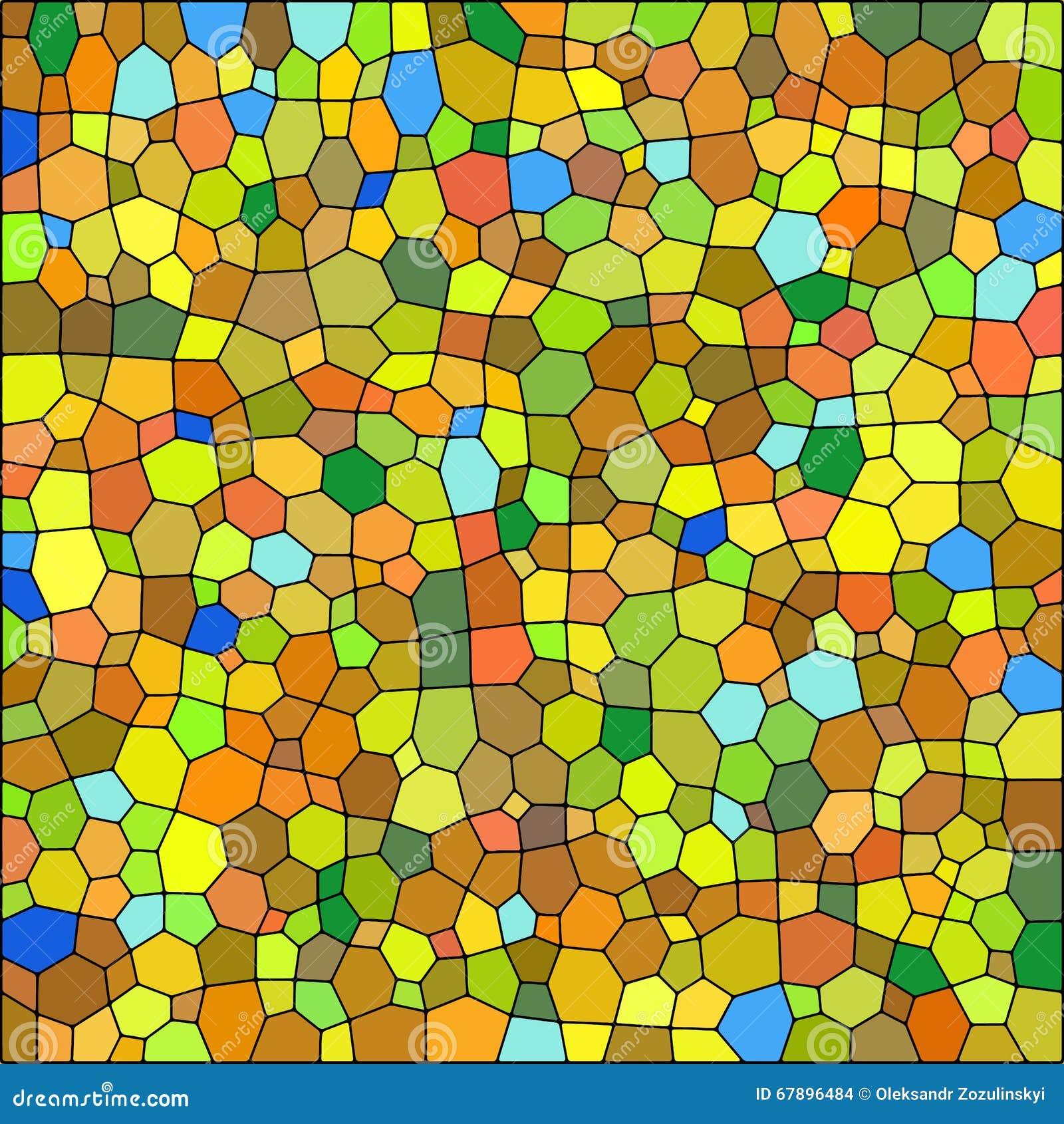 五颜六色的玻璃被弄脏的纹理向量