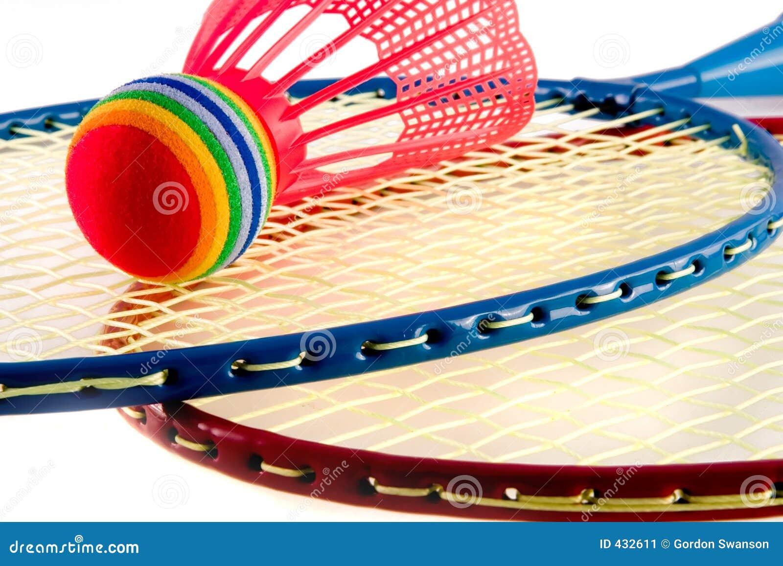 五颜六色的raquet体育运动