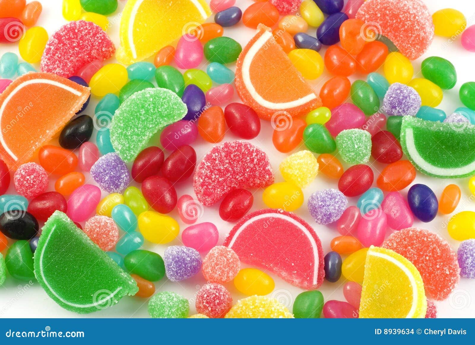 五颜六色背景的糖果