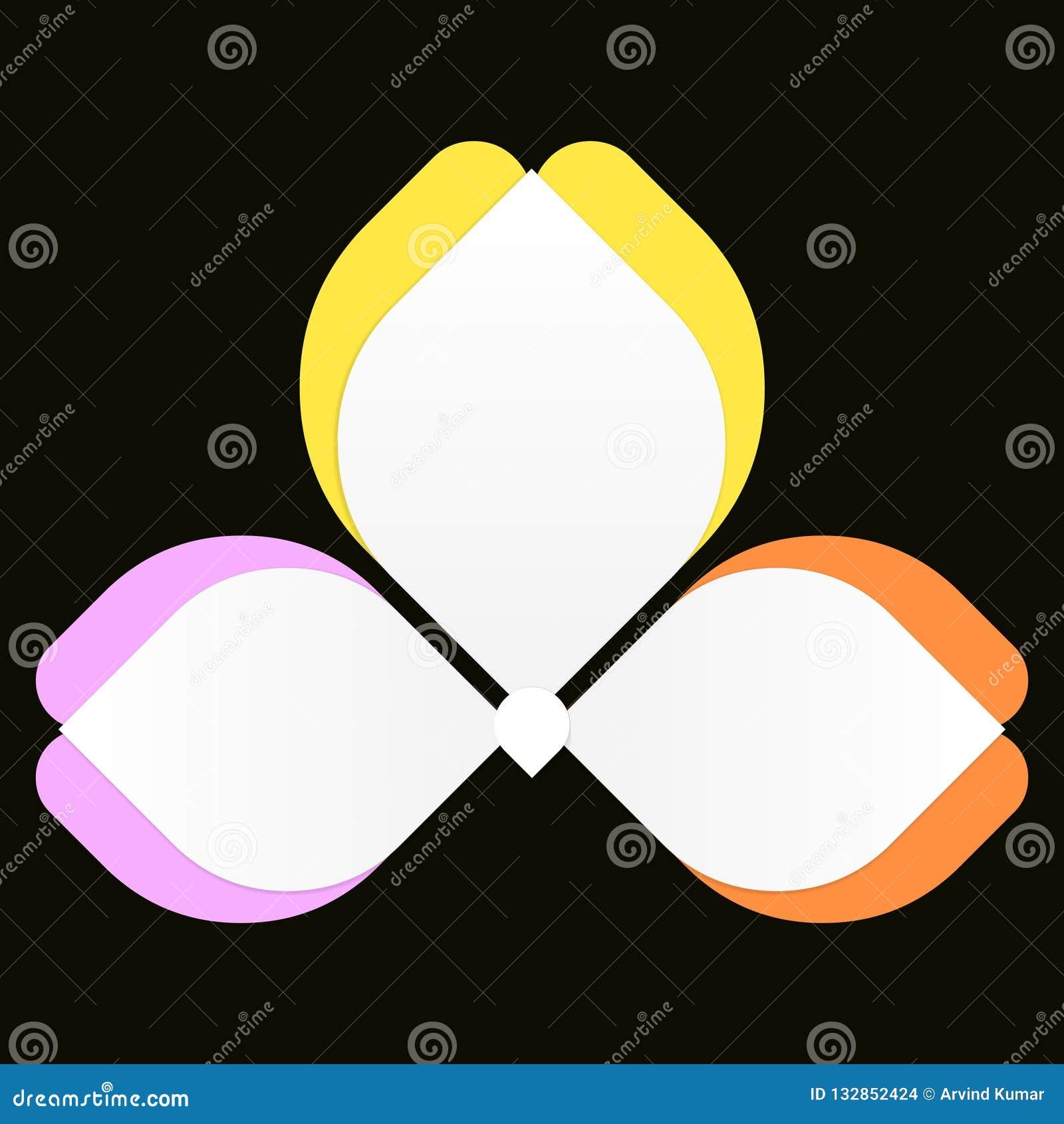 五颜六色花Infographics的蝴蝶,3选择或者步处理图,理想对公司业务介绍