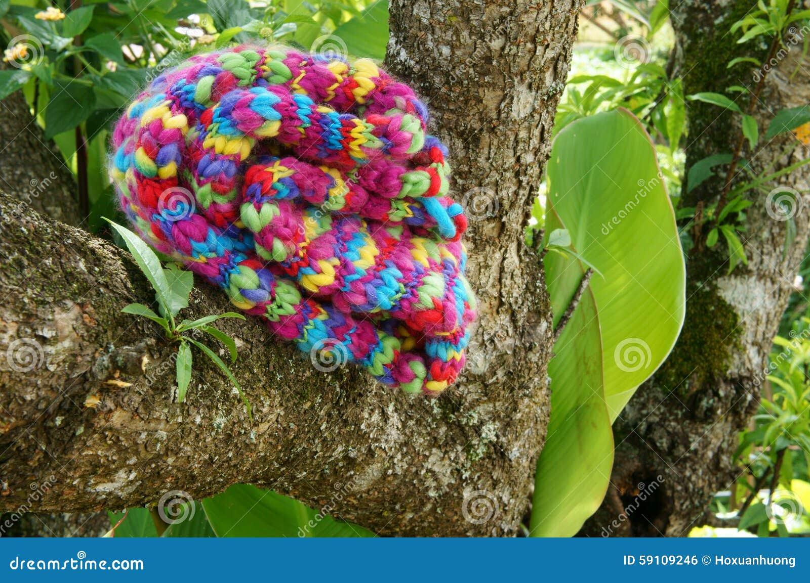 五颜六色wollen围巾,手工制造,礼物