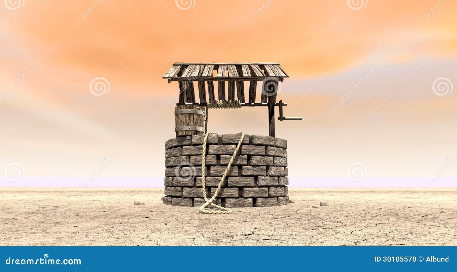 很好祝愿与在一个贫瘠风景的木桶