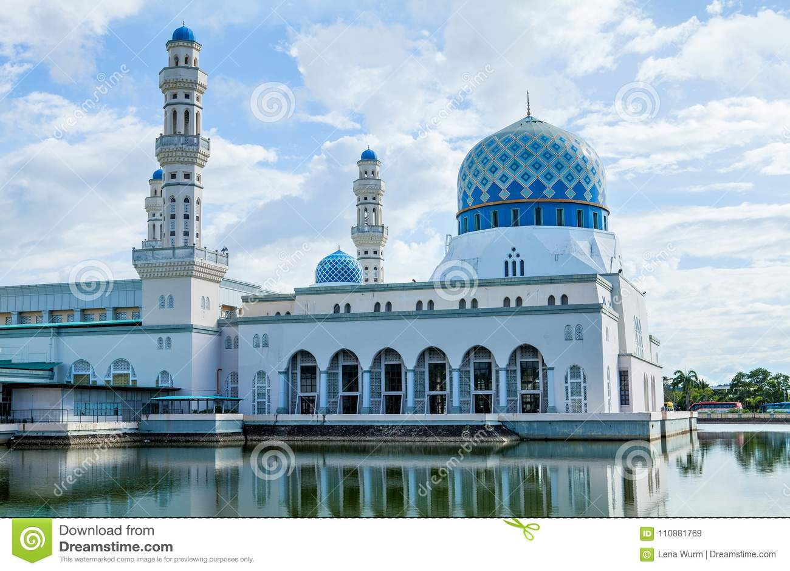 亚庇市清真寺,沙巴,婆罗洲,马来西亚