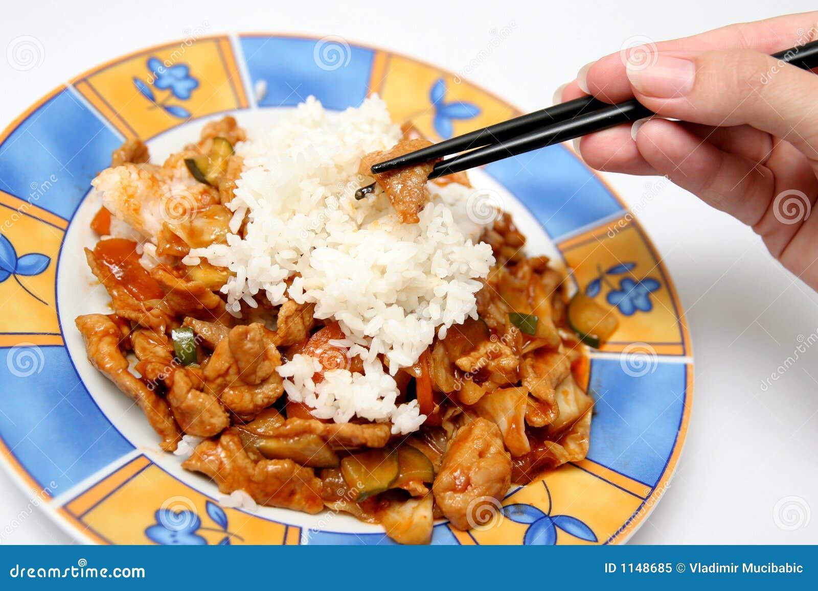 亚洲筷子食物