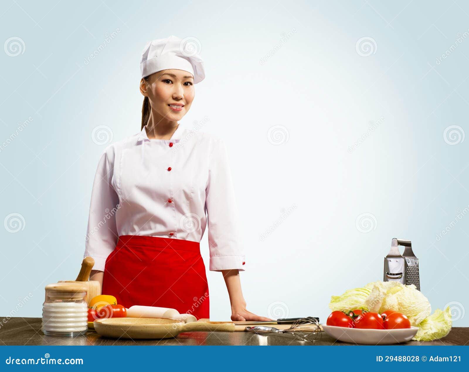 亚裔厨师画象