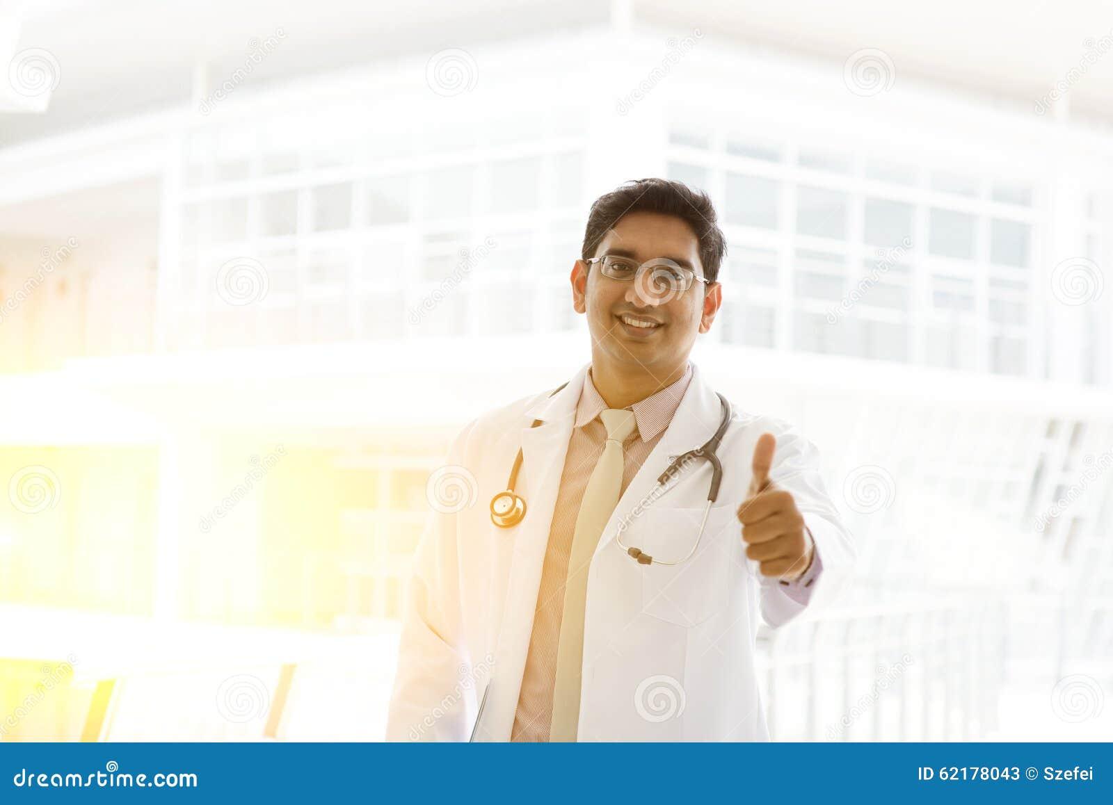 亚洲印地安医生赞许