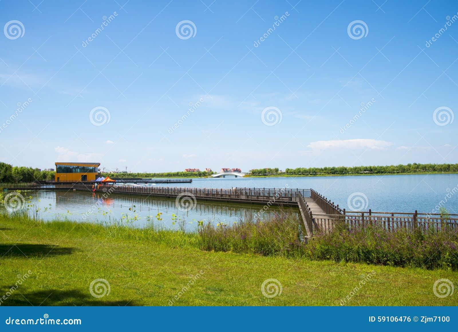 亚洲汉语,天津武清,绿色商展, Lakeview,木桥