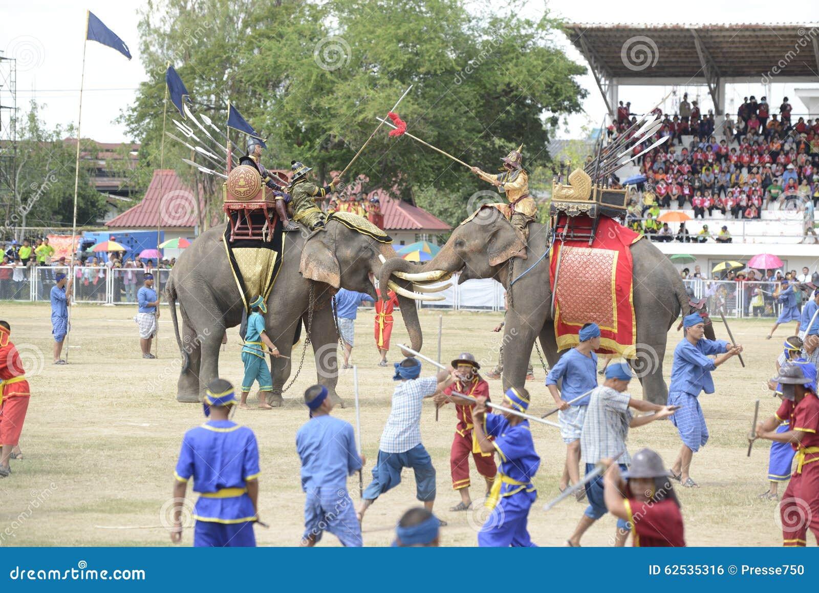 亚洲泰国素林大象节日