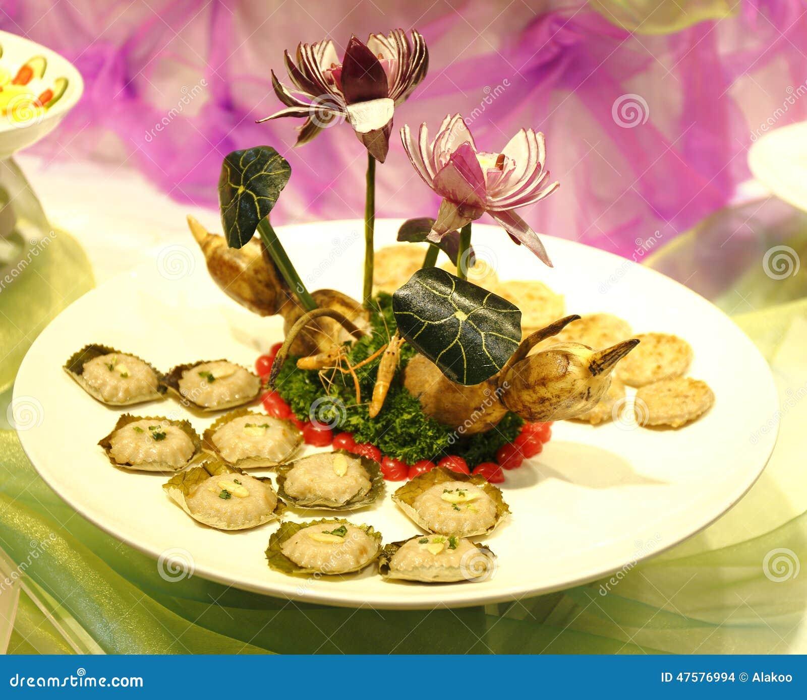 亚洲繁体中文烹调、肉馅饼和莲花根源,中国食物,传统亚洲烹调,可口亚洲食物