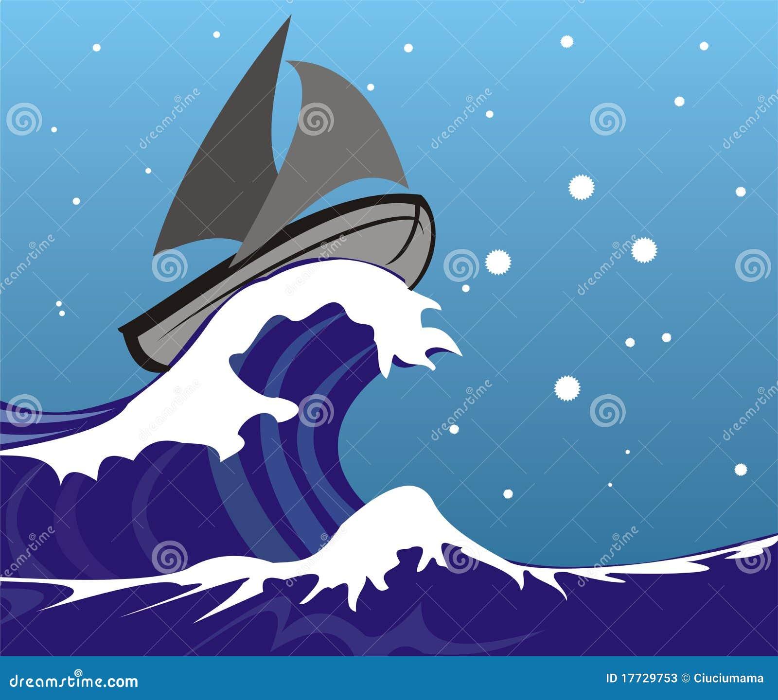 大量海洋风大浪急的海面多暴风雨的天气.图片