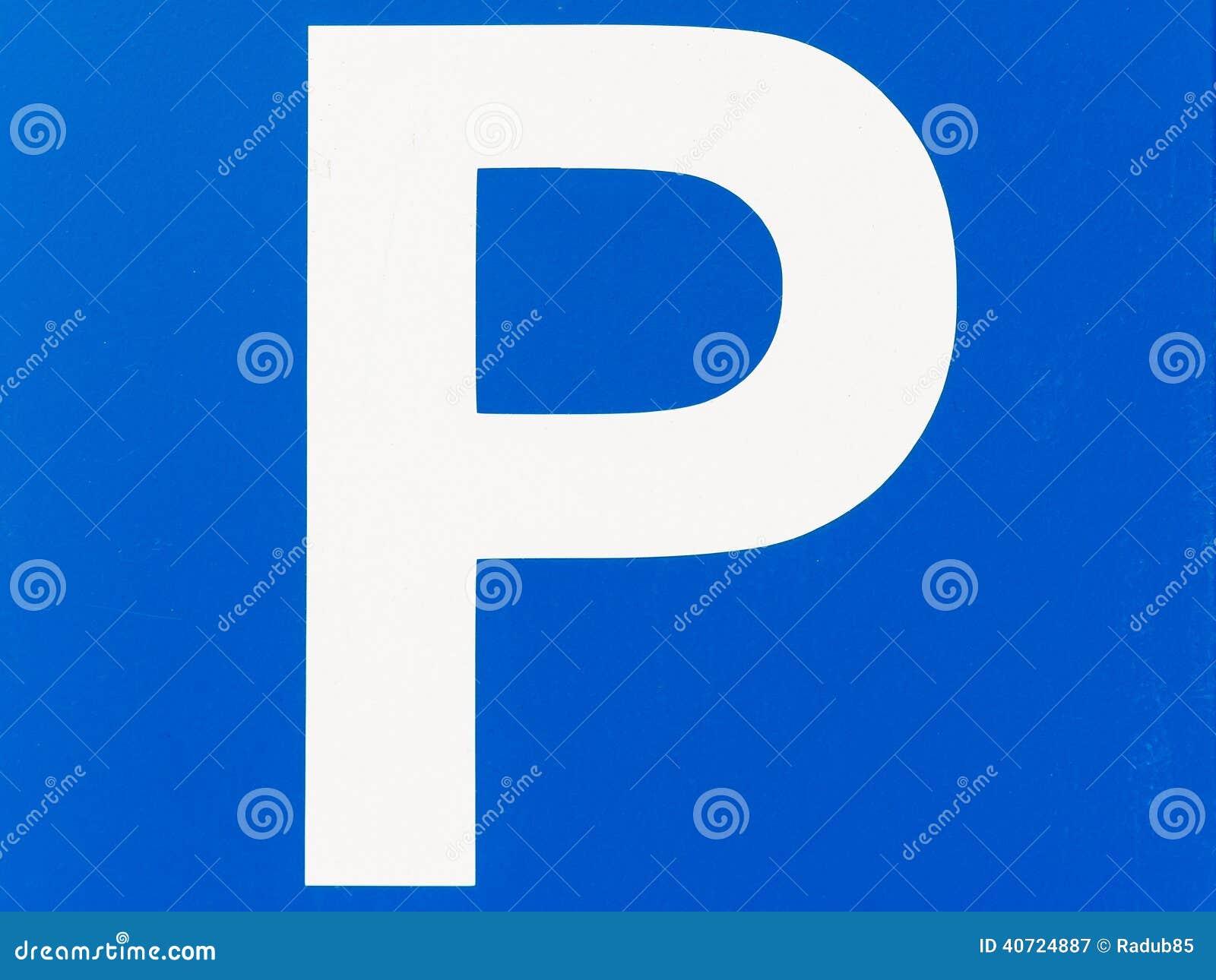 蓝色交通停车处标志关闭.图片
