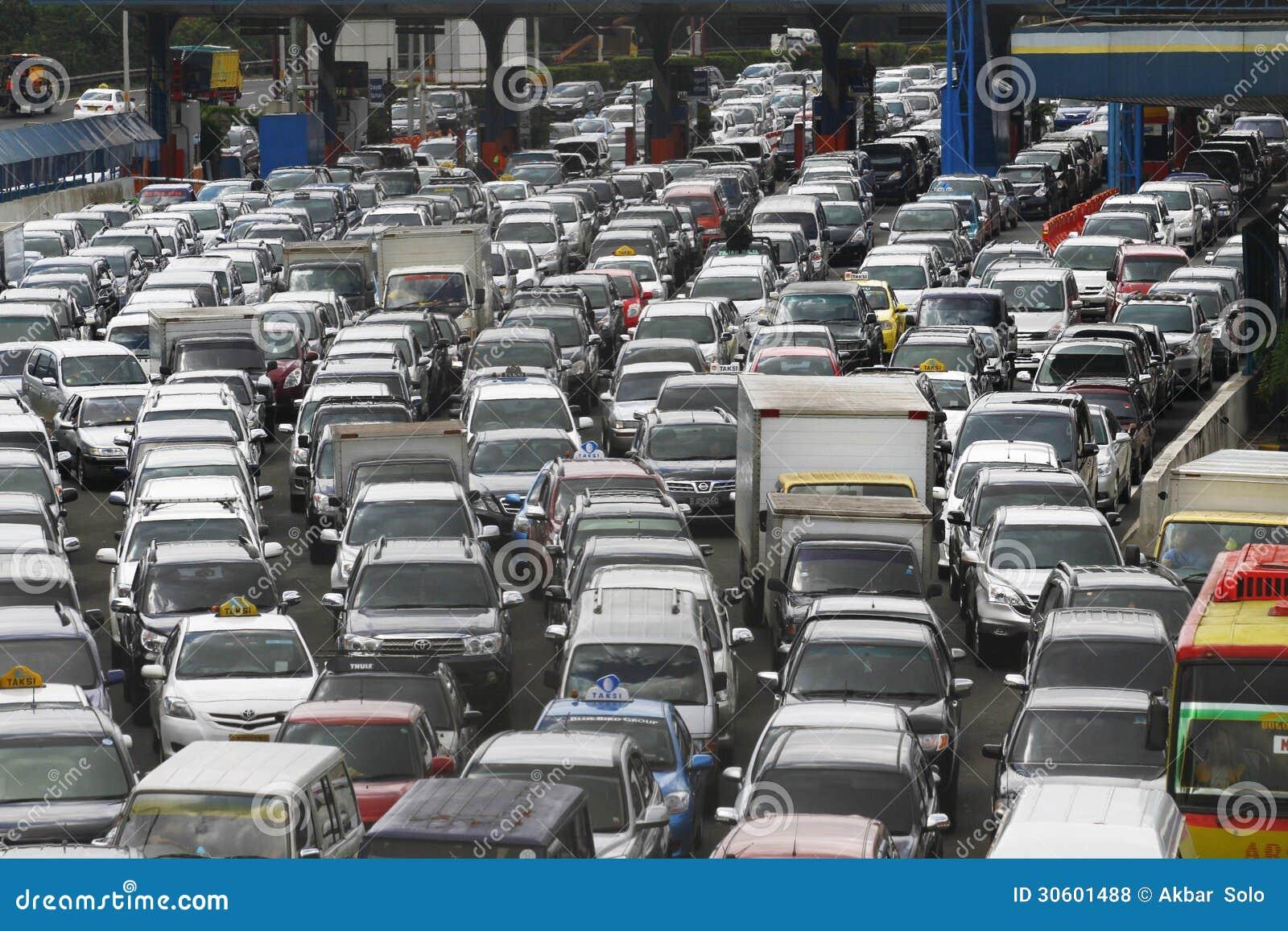 交通堵塞在雅加达印度尼西亚