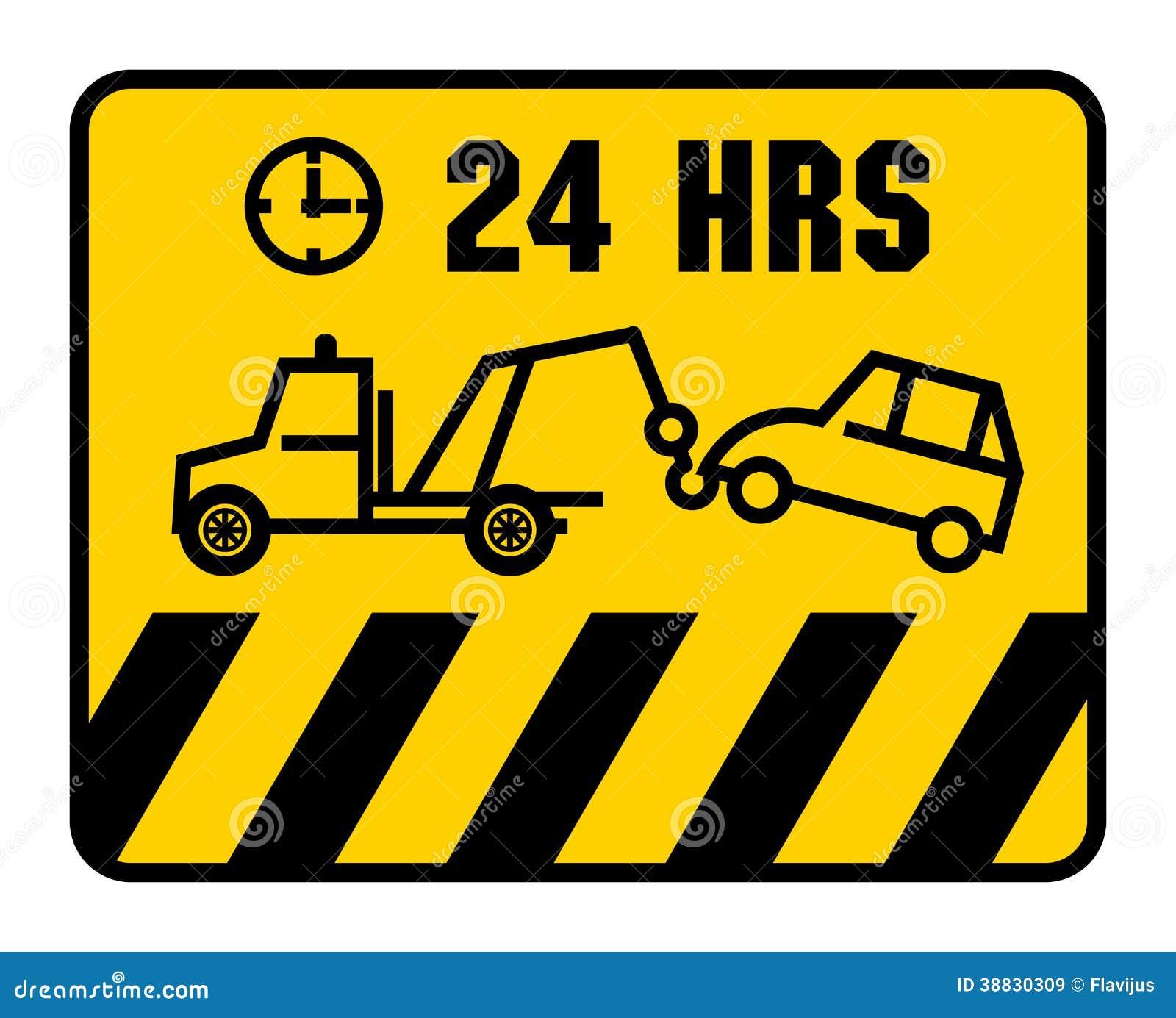 交通标志-禁止停车,彩色插图.图片