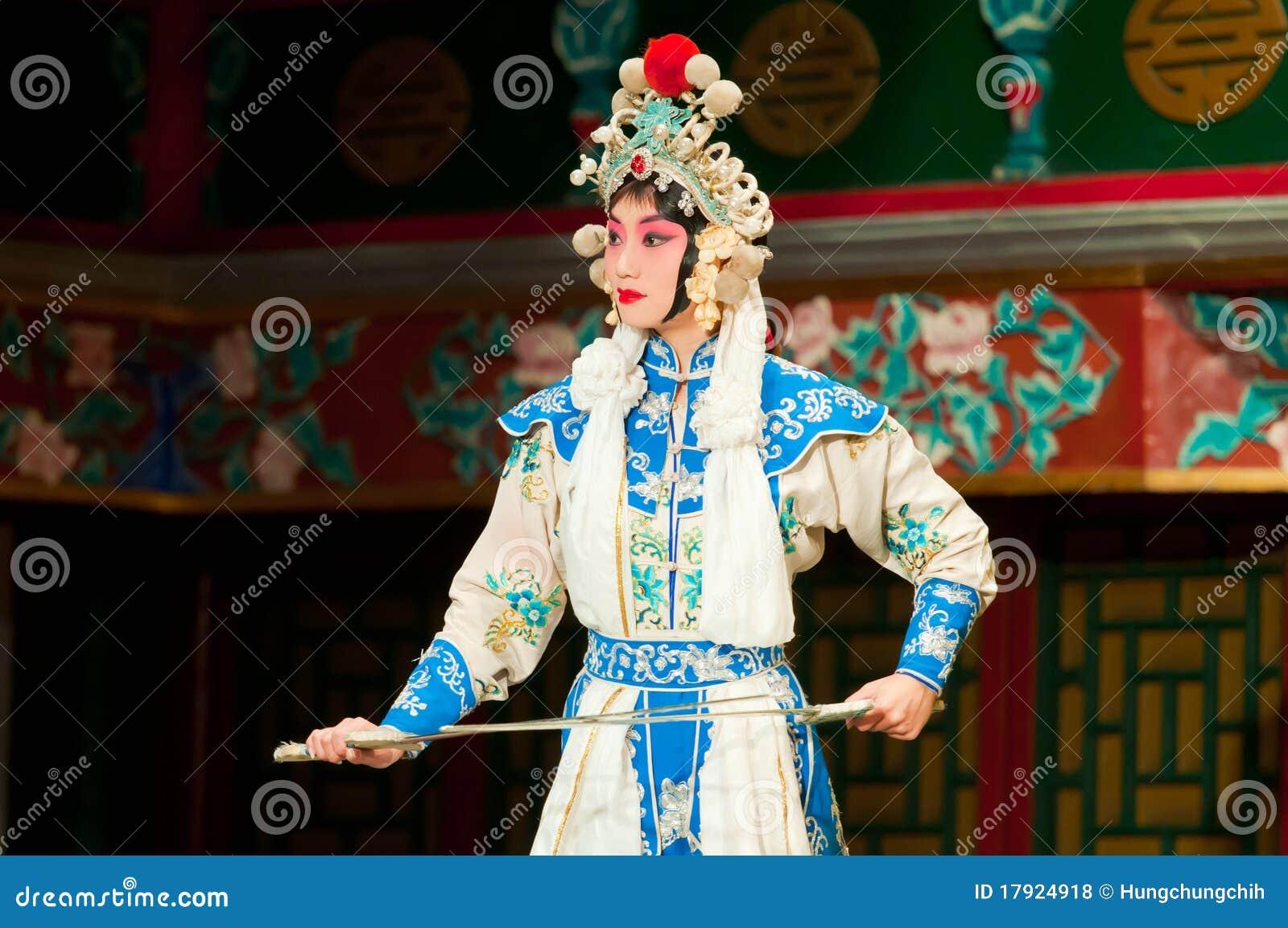 京剧马戏团的女演员