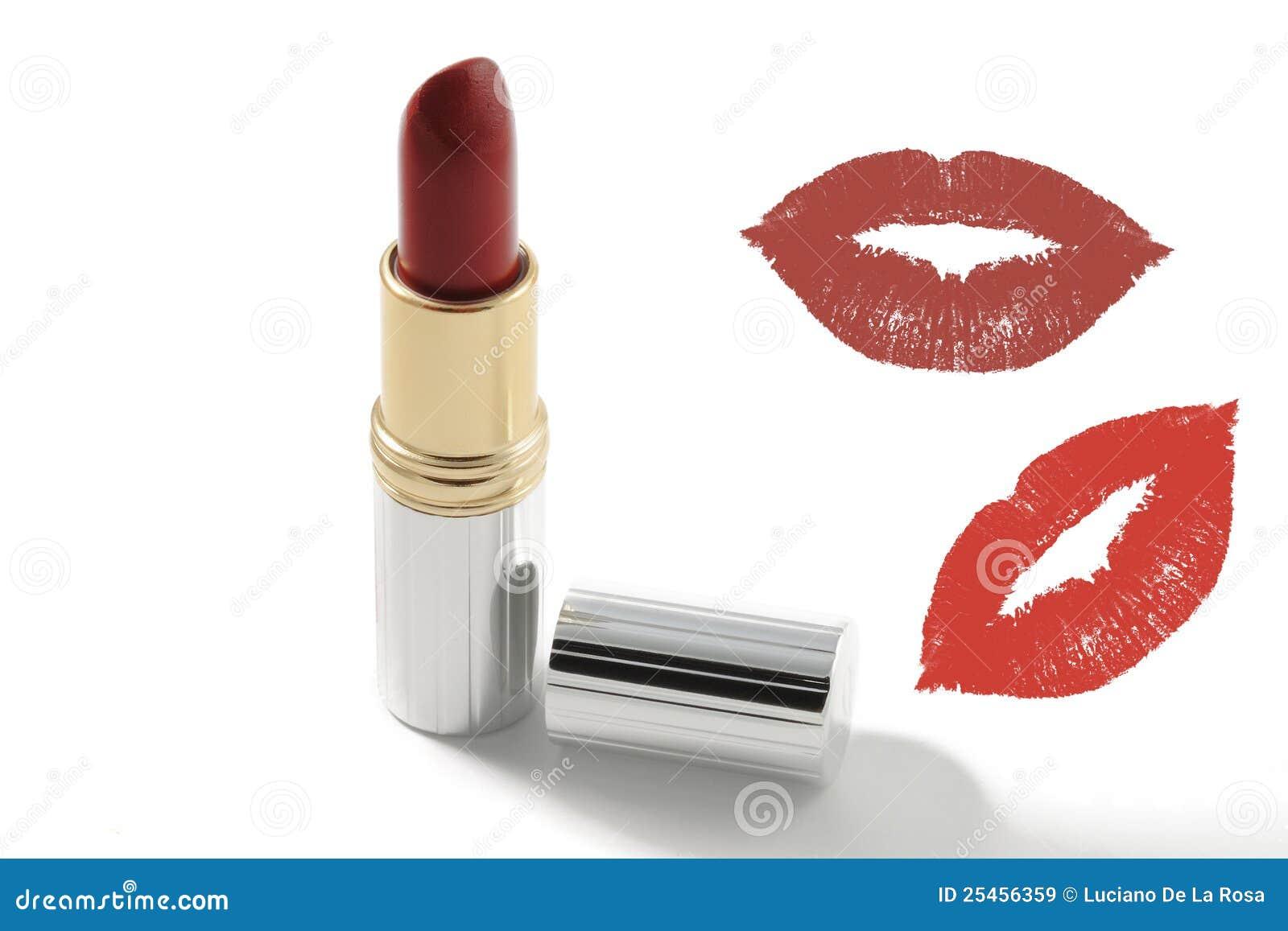 亲吻唇膏红色剪影