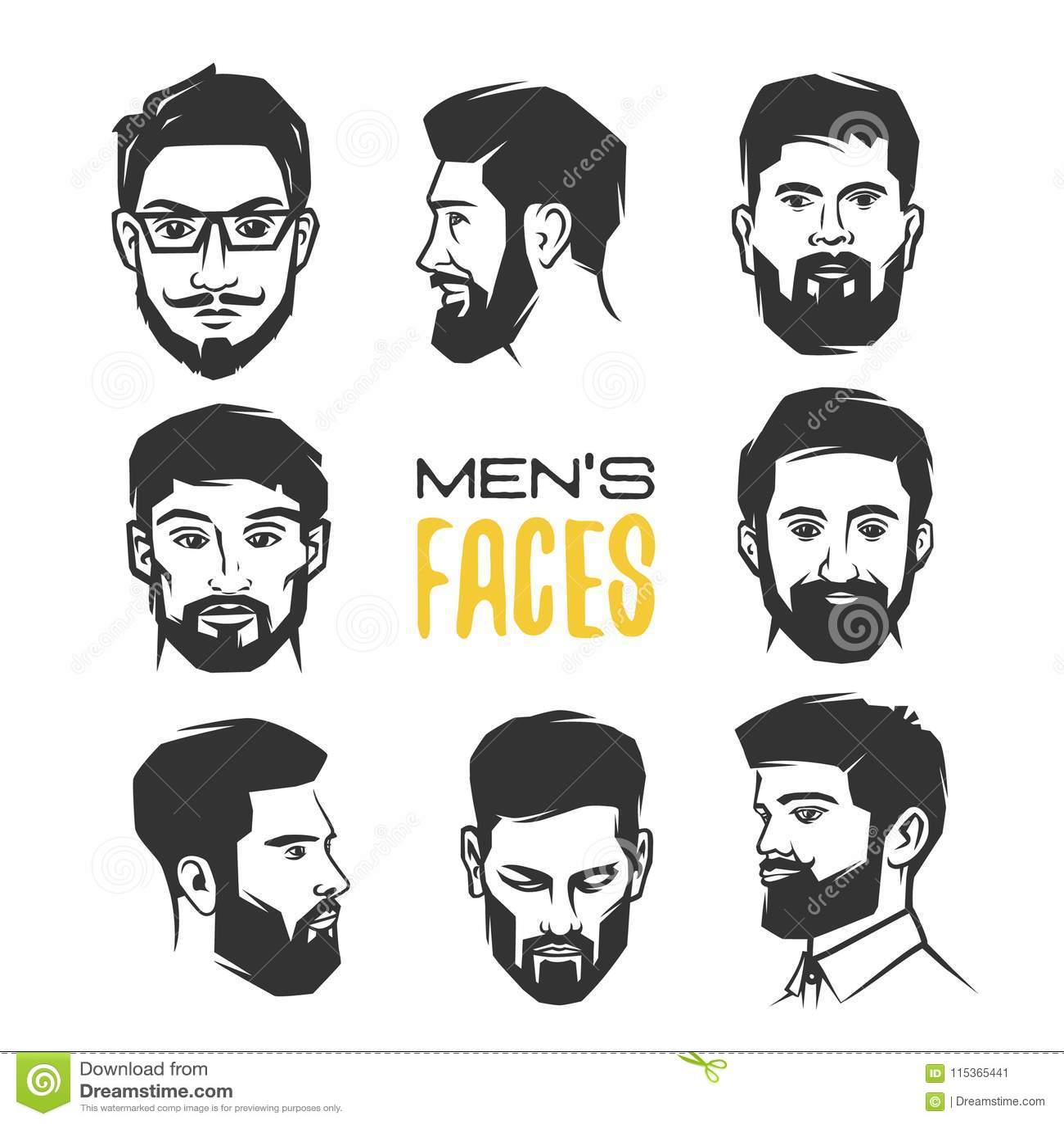人与胡子的` s面孔