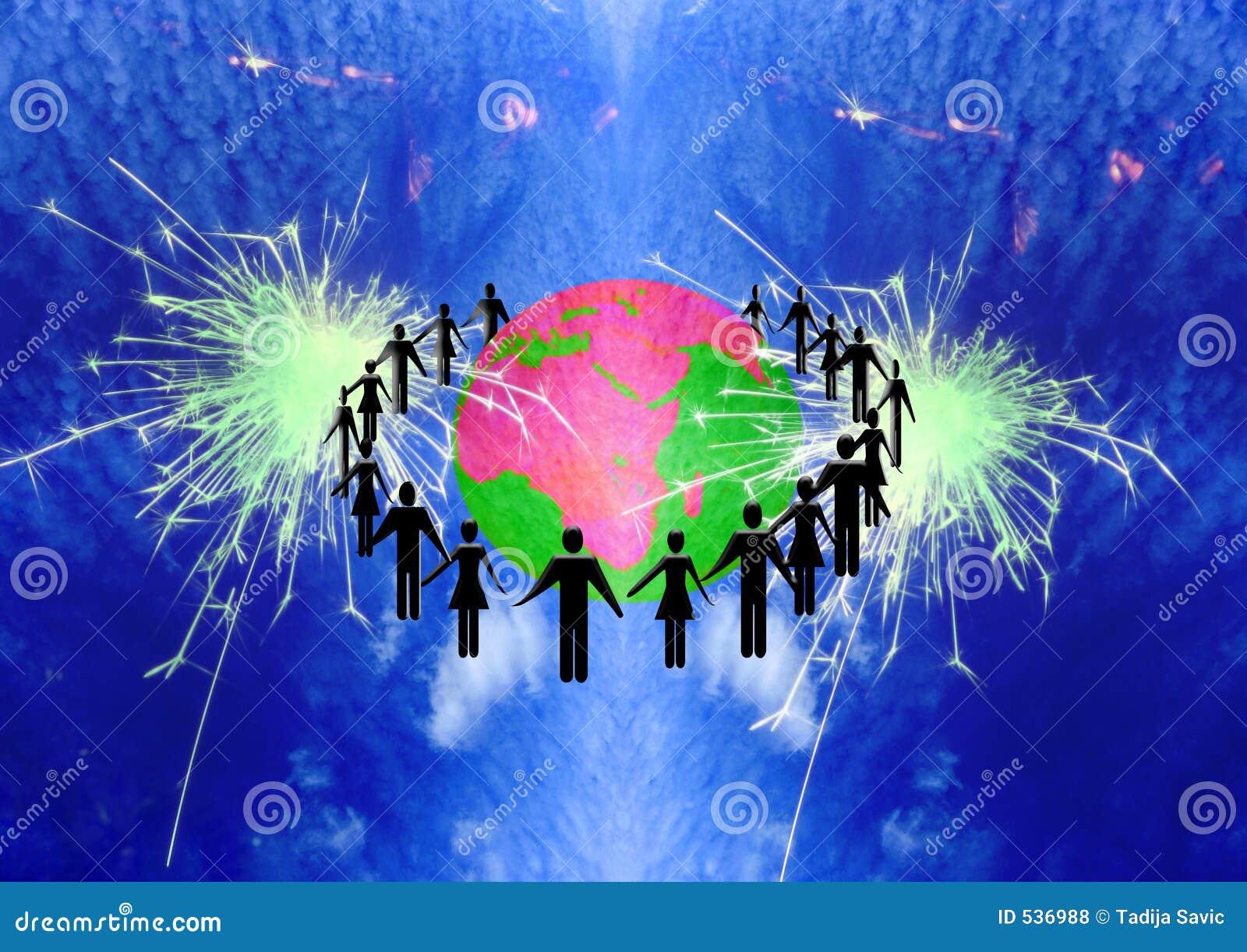 Download 人们团结的workteam 库存例证. 插画 包括有 商业, 例证, 图画, 世界, 配合, 纸张, 宇宙, 空间 - 536988