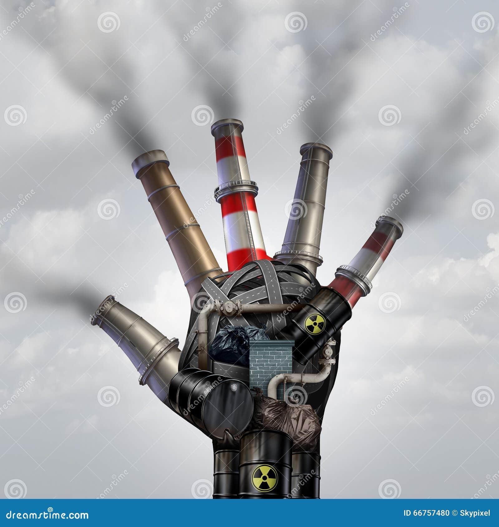 人做了污染