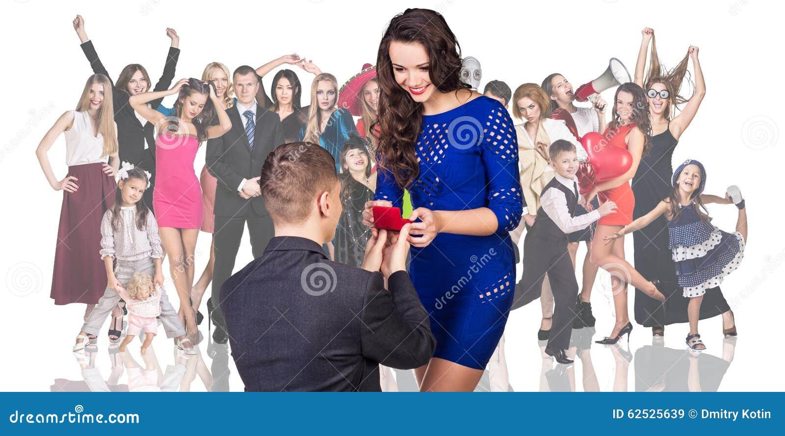 人做提案他的女朋友