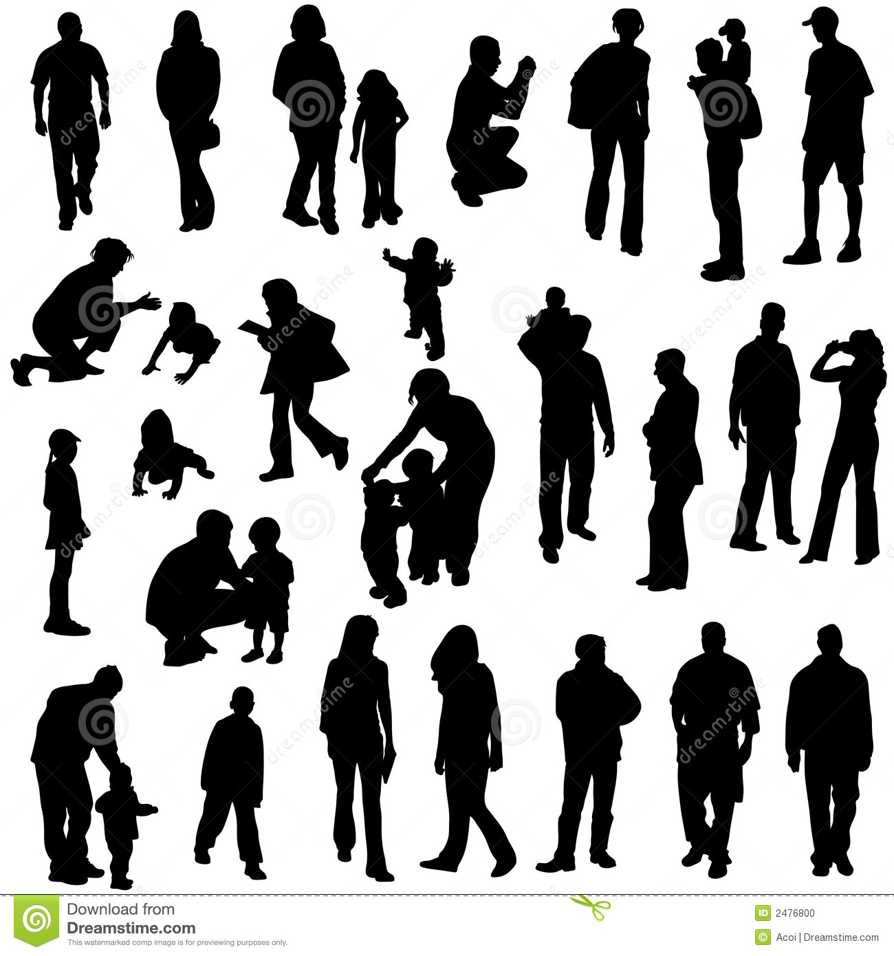 Clipart Man Standing Silhouette