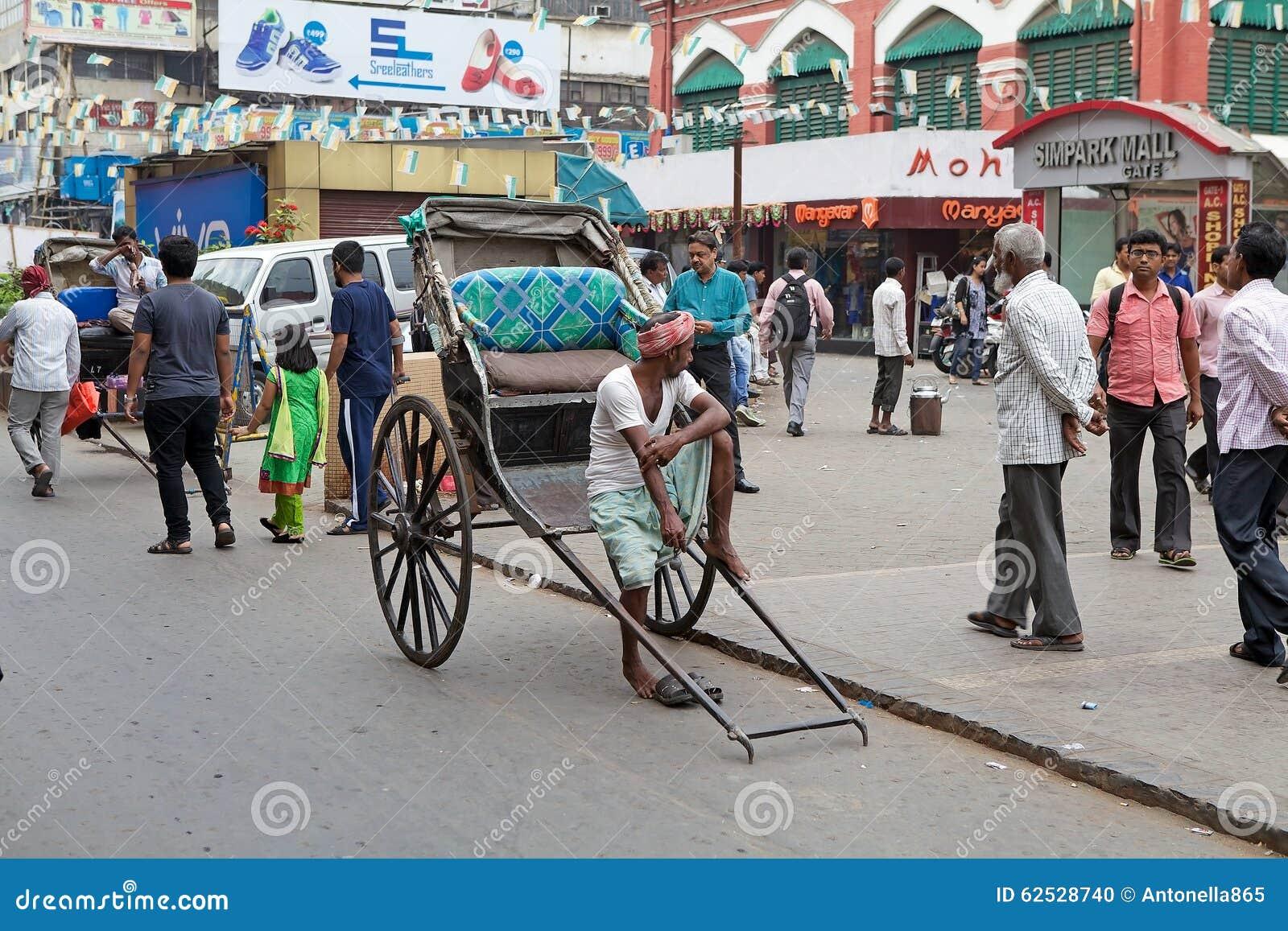 人力车在加尔各答,印度