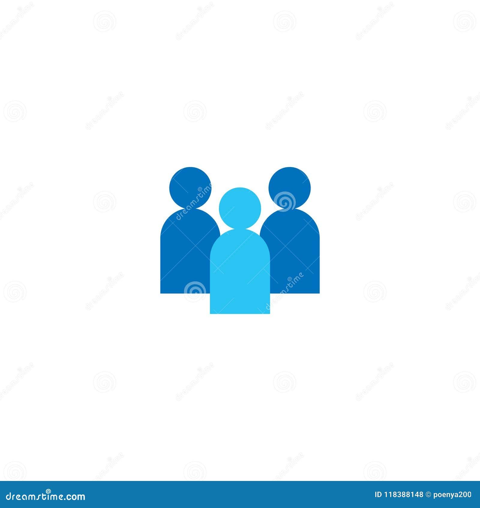 人图标 企业公司的队 社会网络小组商标标志 人群标志 领导或社区conce