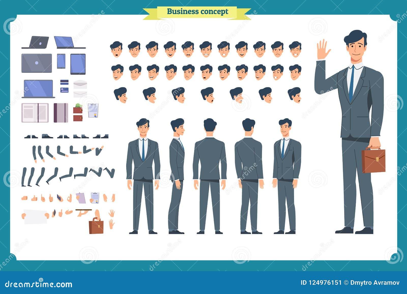 人字符企业集合 前面,边,后面看法给字符赋予生命 商人字符创作集合 简单,剪影,面孔