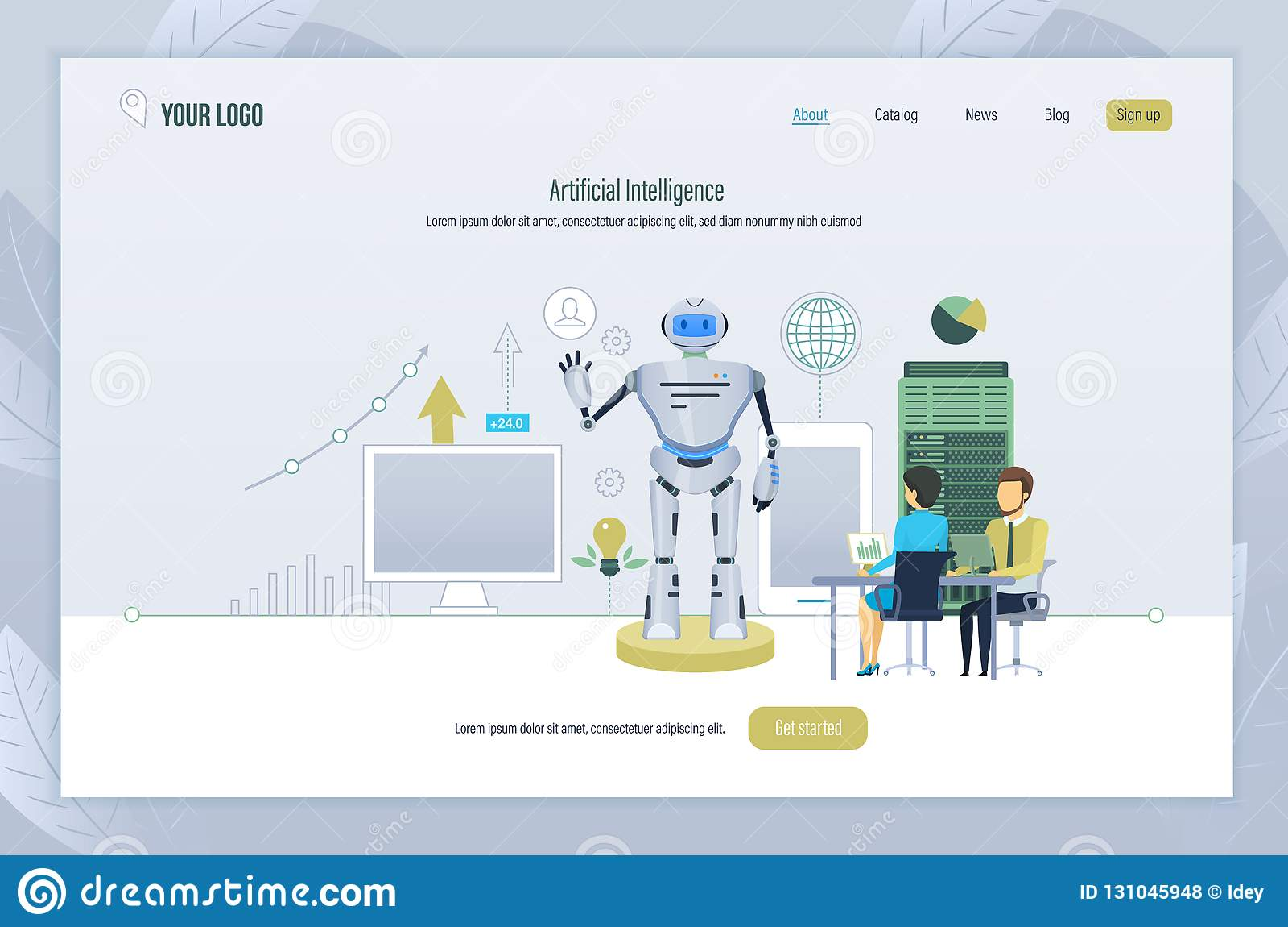 人工智能 创作,管理,测试机器人,未来技术