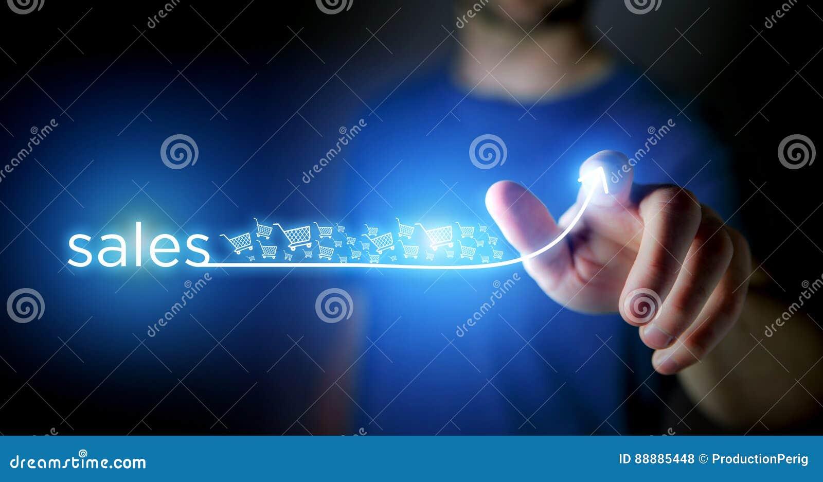 人感人的箭头的概念上升在技术接口的