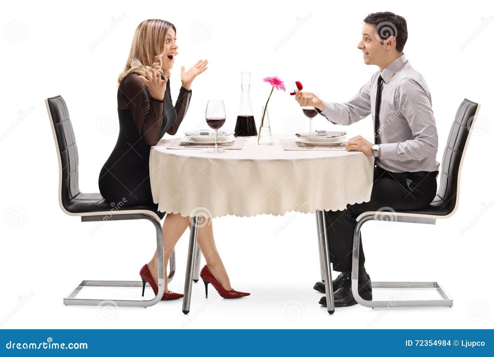年轻人提议对他的女朋友