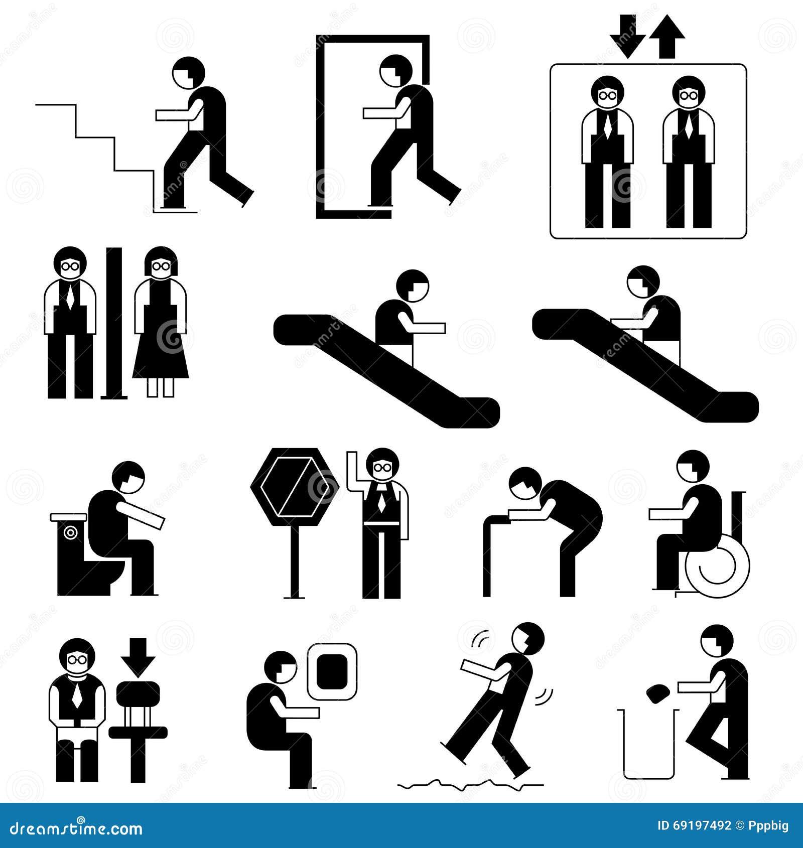 人普遍性标志库存例证. 插画包括...