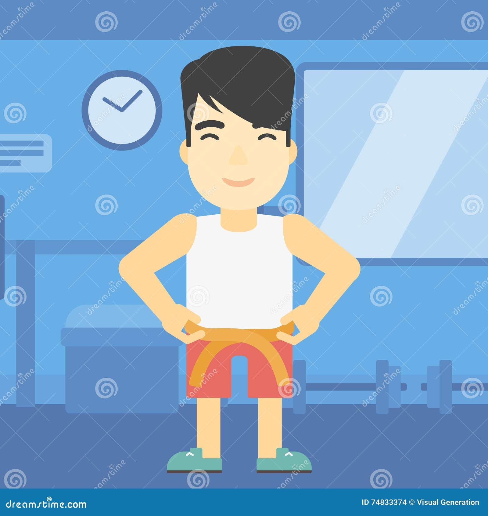 人测量的腰部传染媒介例证