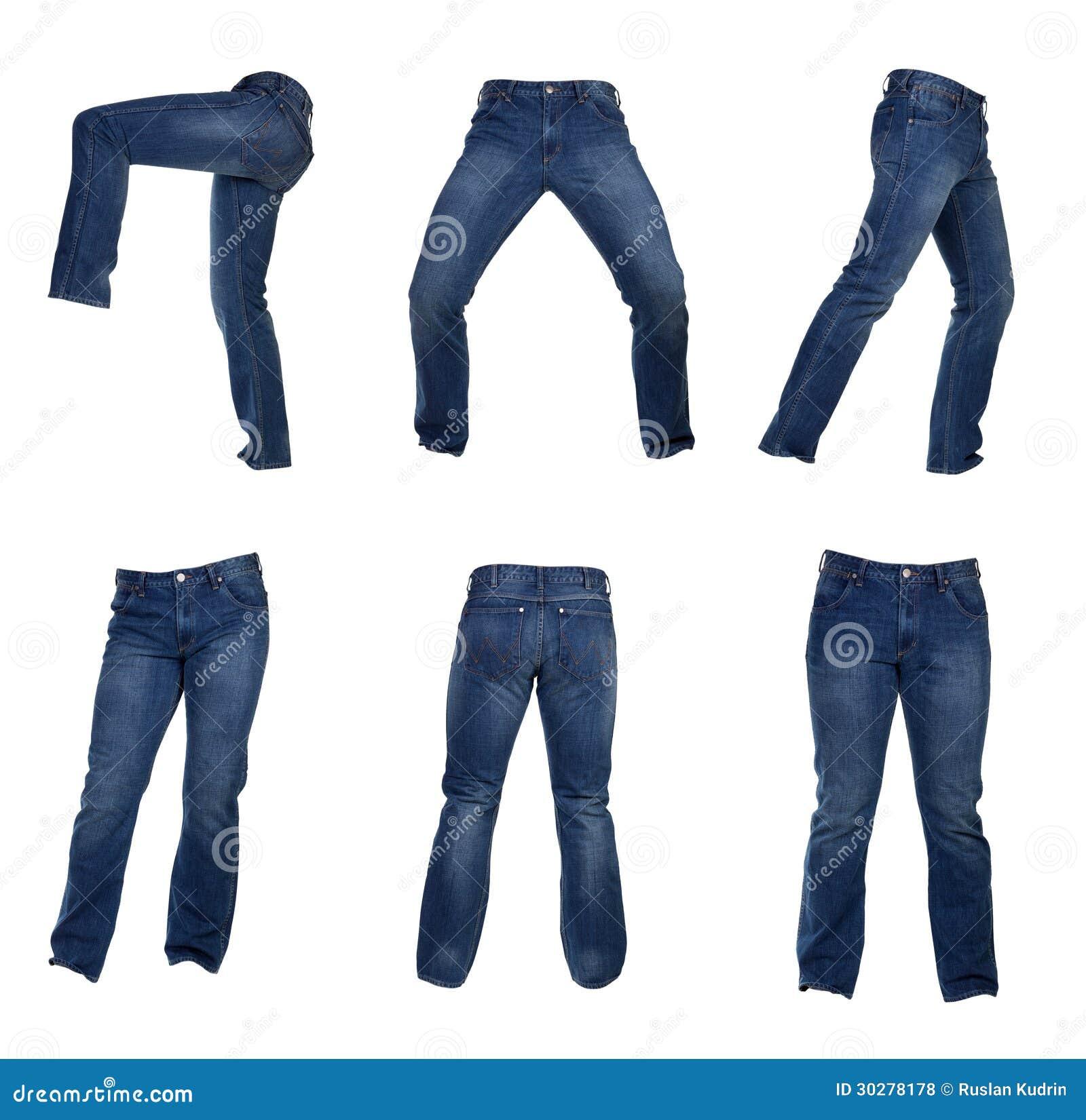 人牛仔裤拼贴画