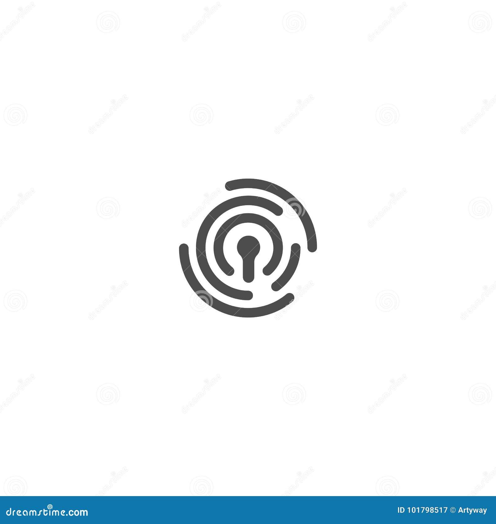 人的证明, thumbprint传染媒介摘要商标 安全技术,信息个人网安全  Id
