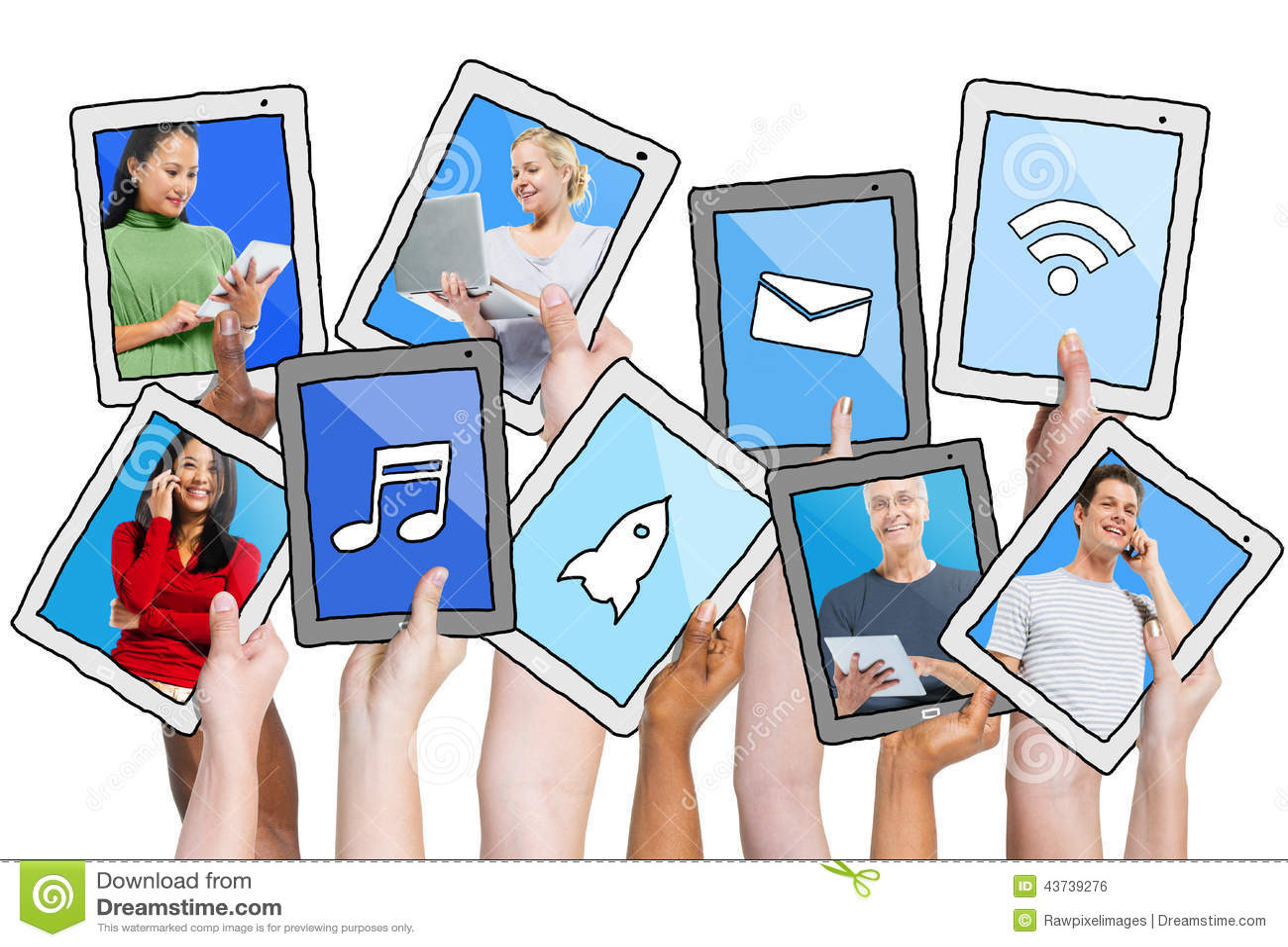 人社会在白色隔绝的网络和相关概念.图片