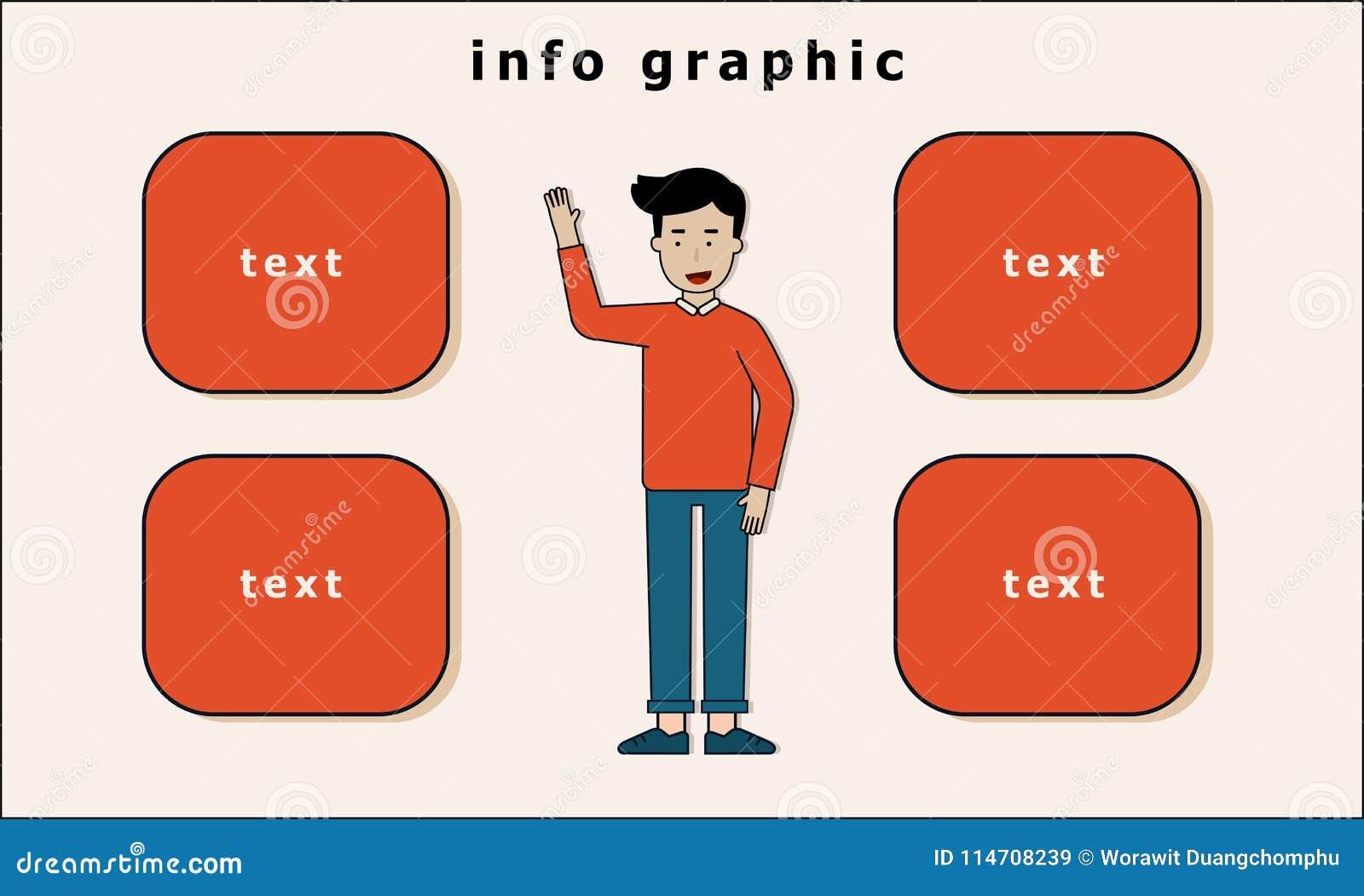 人立场和手信息图表