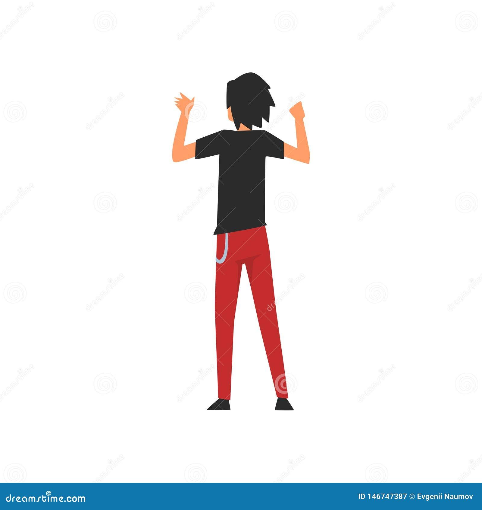 人站立与举的Clubber手在露天音乐会,岩石费斯特,室外夏天音乐节,从的看法