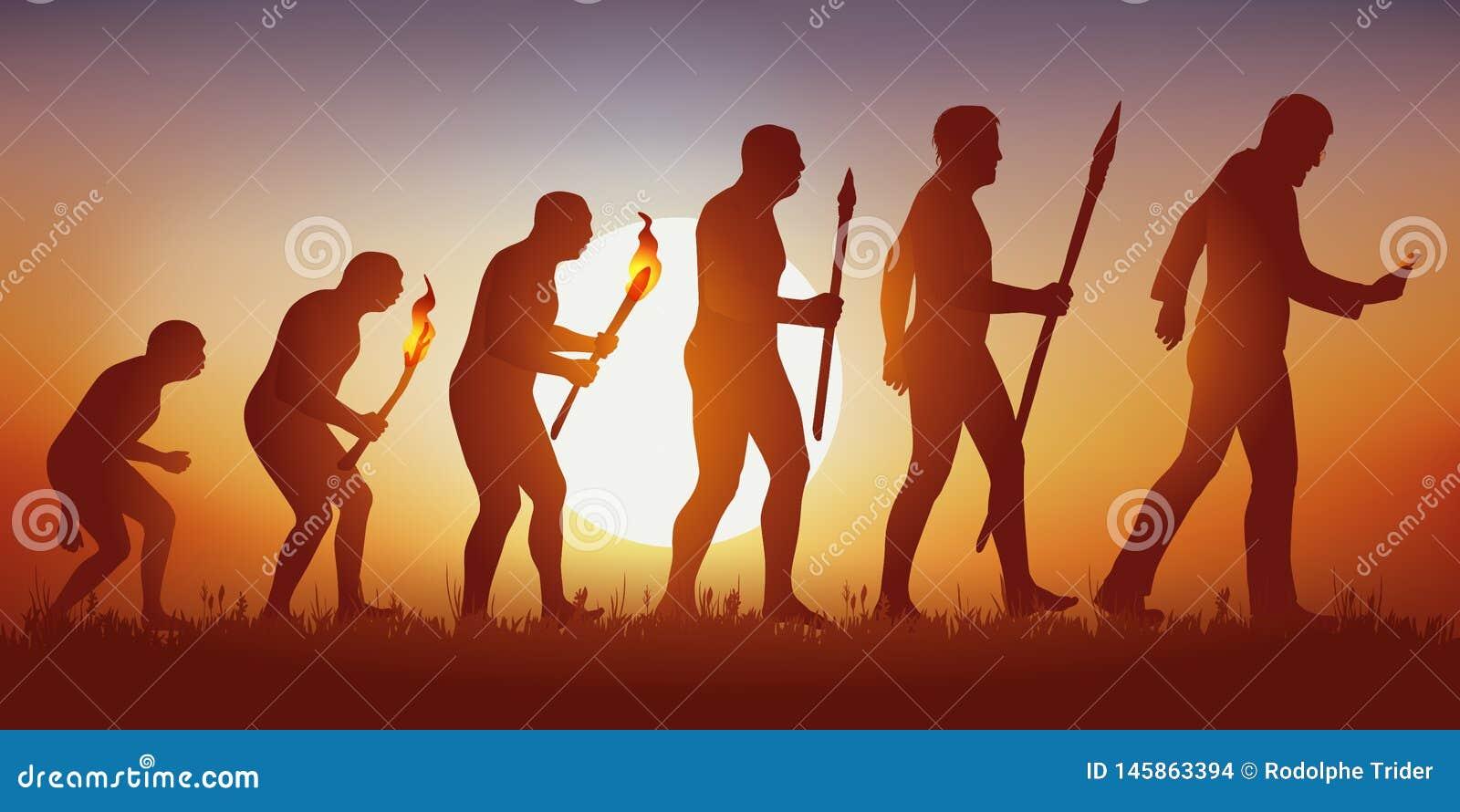 人类的演变往一个hyperconnected和社会主导的世界的