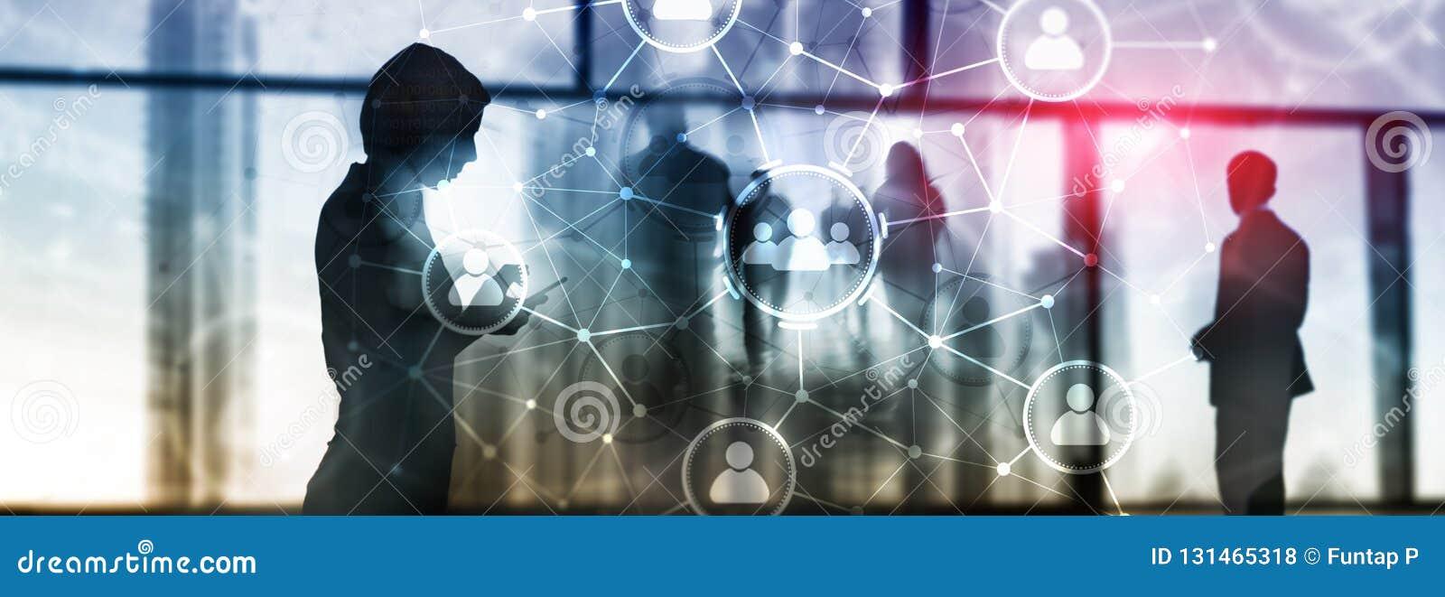 人联系和组织结构 束起通信有概念的交谈媒体人社交 事务和通讯技术概念