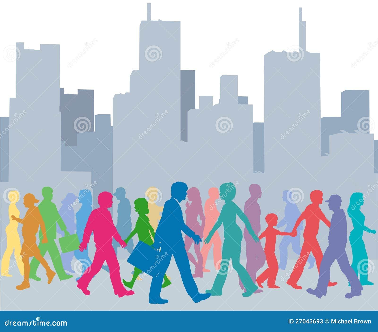 人颜色结构城市人群
