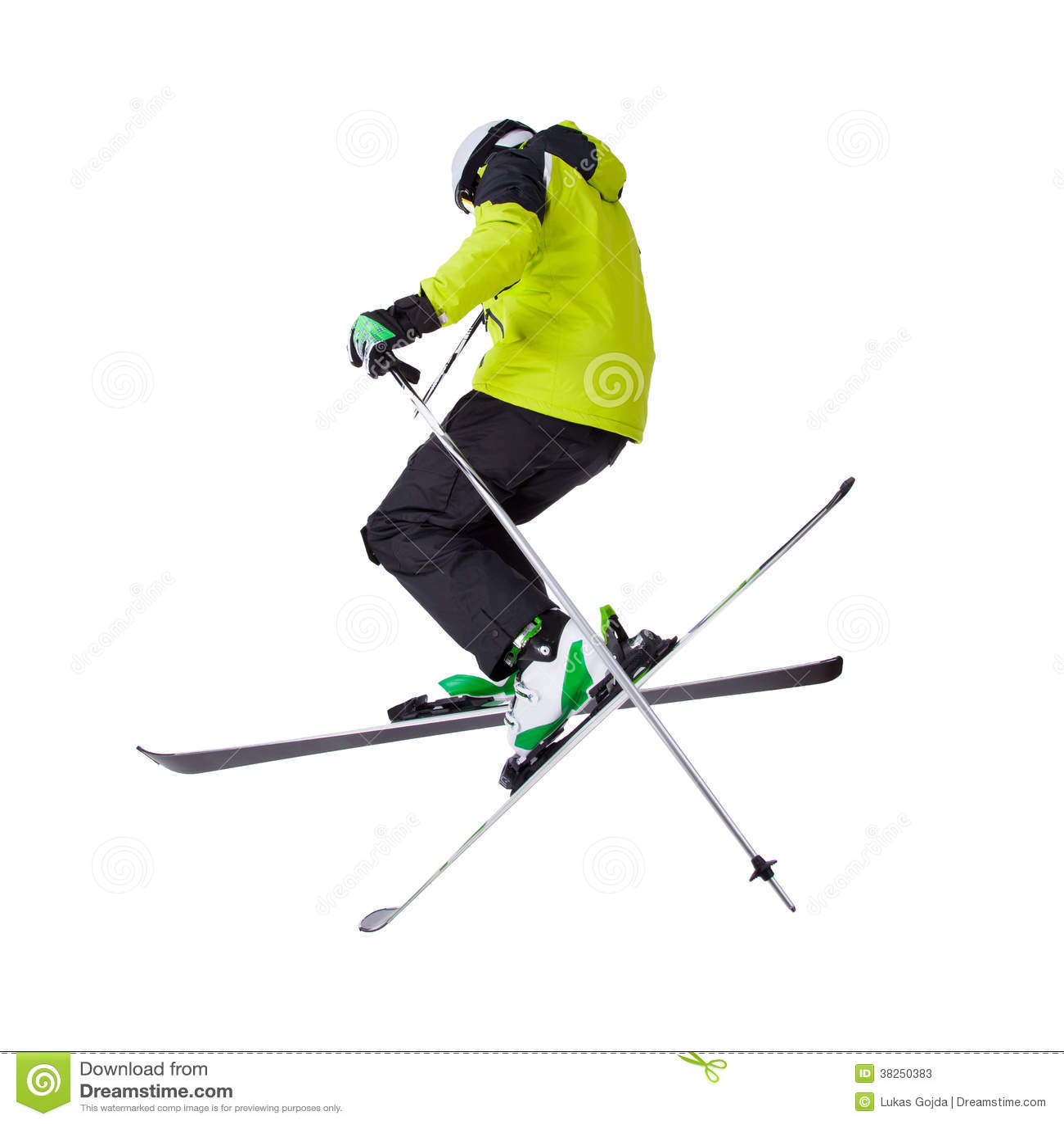 人滑雪者自由式跳跃
